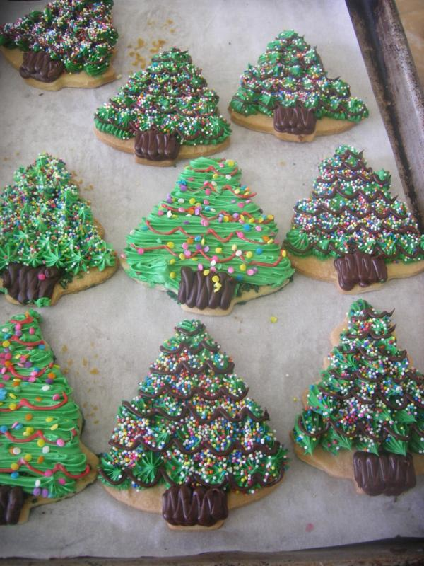 Xmas Tree Cookies The Bake Zone