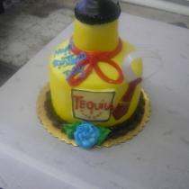 Tequila Bottle Shape cake
