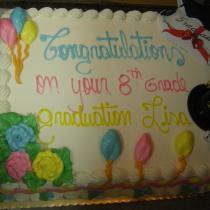Gongrats cake